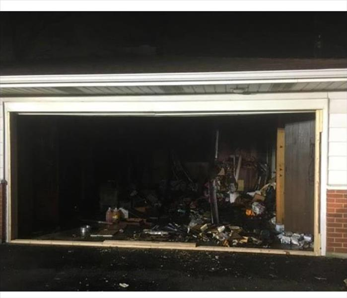 Fire Damaged Garage in Manteno  Before