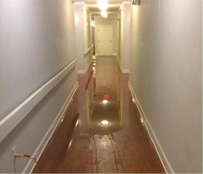 Apartment Water Damage in Matteson Before