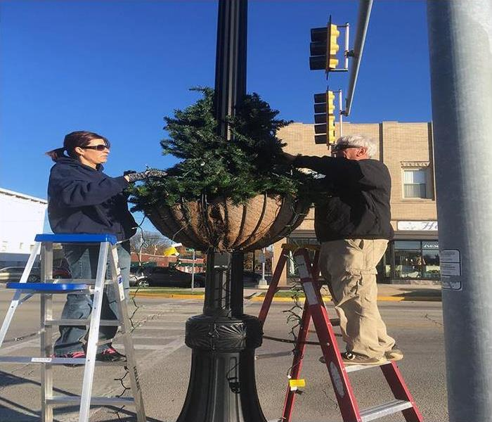 Christmas Tree Setup In Watseka