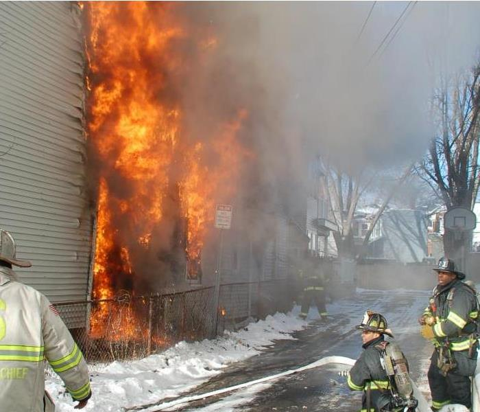 Fire Damage Be sure to keep your dryer vents clean in Flossmoor home