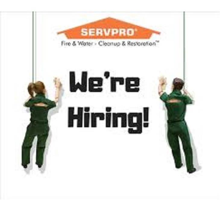 """SERVPRO we are hiring"" with characters"