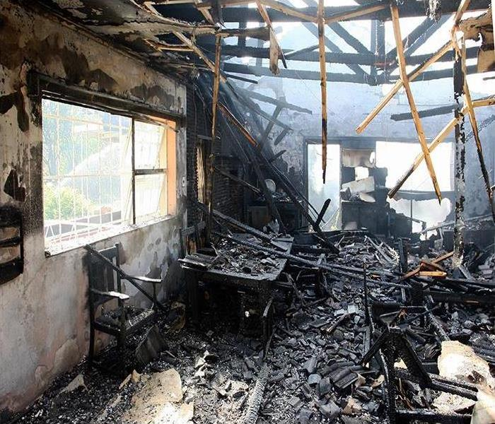 Fire Damage SERVPRO does more to help you after a fire