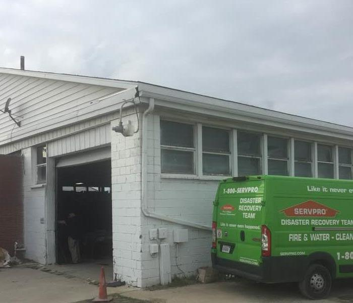 Commercial SERVPRO Restores A Commercial Water Damaged Building Quickly